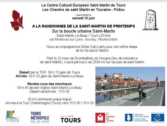 Randonnée de la Saint-Martin de Printemps, Tours 2017
