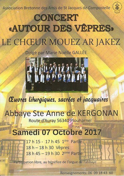 Concert du Choeur Mouez Ar Jakez, Plouharnel