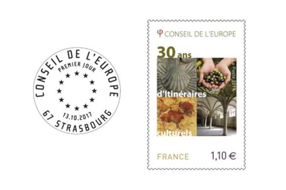 Timbre des 30 ans des Itinéraires Culturels Européens