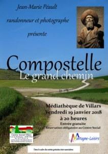 Conférence Compostelle, le grand chemin, Villars