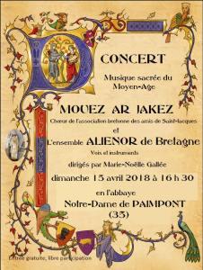 Concert Mouez Ar Jakez 15.04.2018