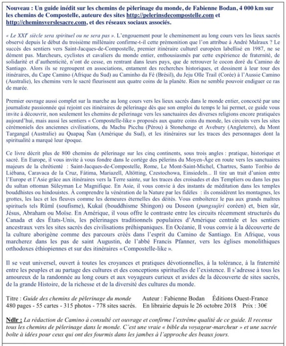 Bulletin Camino N° 198 - Février 2019
