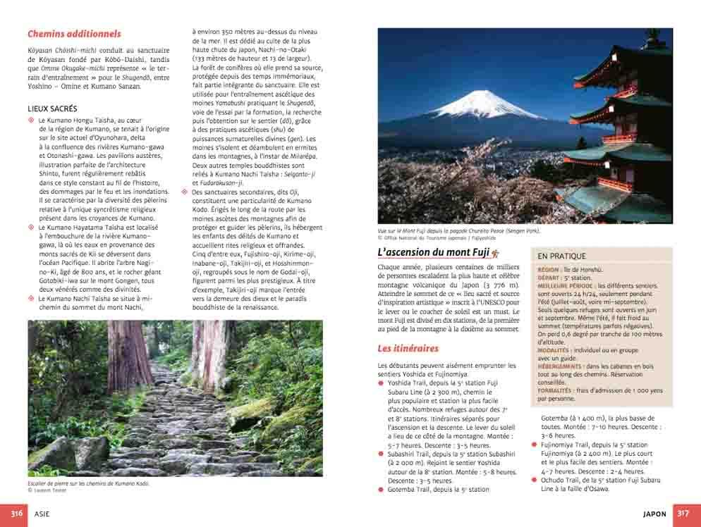 Guide chemins de pèlerinage du monde de Fabienne Bodan (extrait page Asie)
