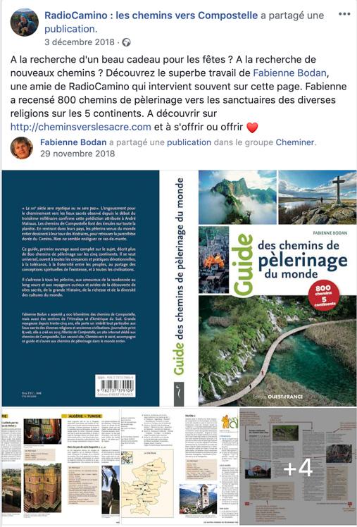 Radio Camino parle du Guide des chemins de pèlerinage du monde 3.12.3018