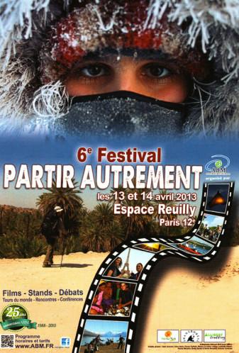 Affiche 6e Festival Partir Autrement organisé par l'association ABM (Aventures du Bout du Monde)