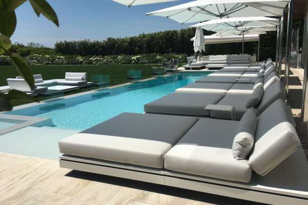 Infinity Edge Pool with Trackless Grando Cover