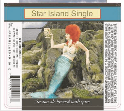 Star Island Beer label