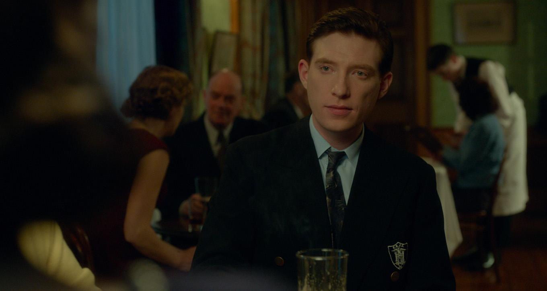 "Domhnall Gleeson as ""Jim Farrell"" in BROOKLYN. Photo courtesy of"
