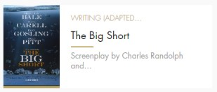Adapted Screenplay Big Short