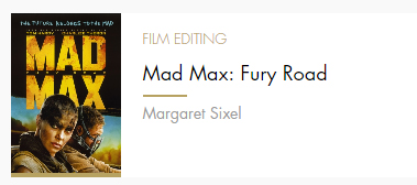 Film Editing Mad Max