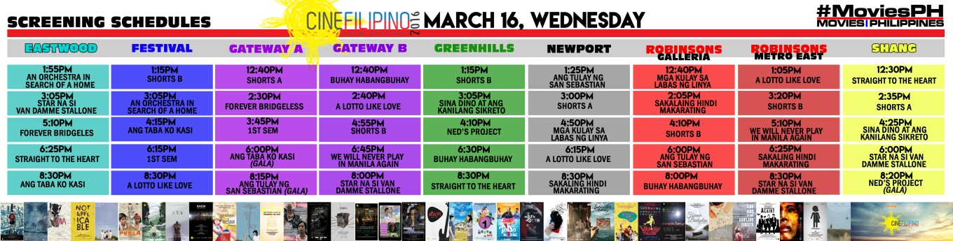 CineFilipino Sked March 16