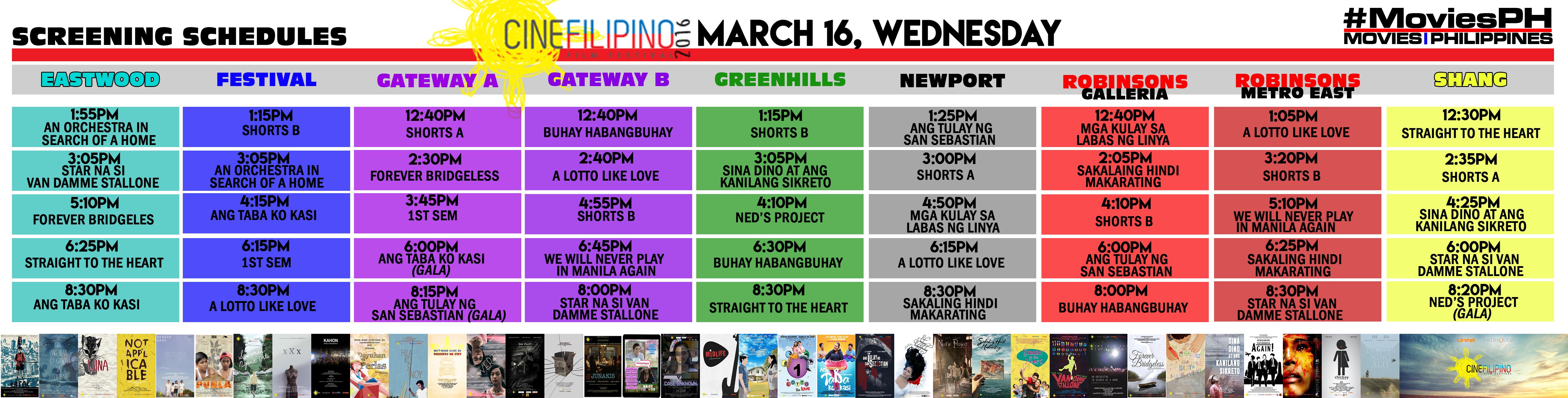CineFilipino Sked March 16