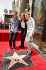 Charles Bernard Foster, Jodie Foster and Kit Bernard Foster seen at ceremony honoring Jodie Foster with a star on Hollywood Walk of Fame on Wednesday, May 4, 2016, in Los Angeles.