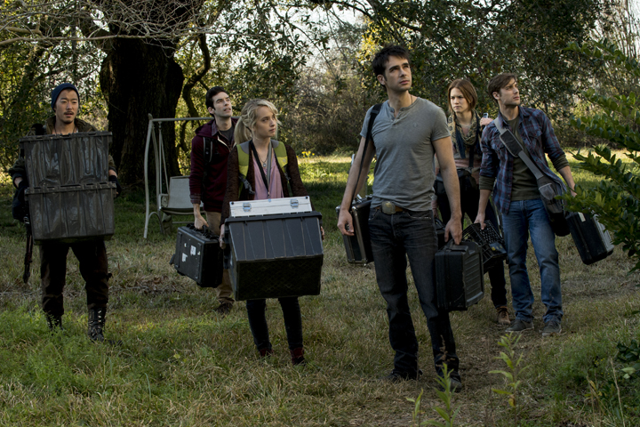 dustin milligan (front right) in HAUNTED (1)