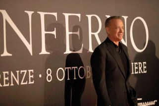Florence, Italy –October 8, 2016 Tom Hanks at Columbia Pictures INFERNO World Premiere Red Carpet - Opera di Firenze. Florence, Italy