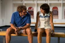 Steve Carell and Emma Stone in the film BATTLE OF THE SEXES. Photo by Melinda Sue Gordon.© 2017 Twentieth Century Fox Film Corporation All Rights Reserved
