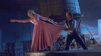 "Hugh Jackman and Michelle Williams star in Twentieth Century Fox's ""The Greatest Showman."""