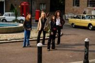 "L-r, Joseph Mazzello as John Deacon, Ben Hardy as Roger Taylor, Rami Malek as Freddie Mercury and Gwilym Lee as Brian May star in Twentieth Century Fox's ""Bohemian Rhapsody."""