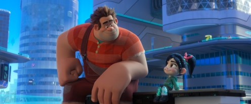 """BEST FRIENDS – In """"Ralph Breaks the Internet,"""" video game bad guy Ralph and his best buddy Vanellope journey to the internet in search of a replacement part for her game. Vanellope wholeheartedly embraces this new world, while Ralph can't wait to go home to their comfortable lives. Directed by Rich Moore and Phil Johnston, and produced by Clark Spencer, """"Ralph Breaks the Internet"""" opens in U.S. theaters on Nov. 21, 2018. ©2018 Disney. All Rights Reserved."""
