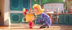 Cindy-Lou Who (Cameron Seely, left) has a secret plan to help her overworked mother, Donna Who (Rashida Jones) in Dr. Seuss' The Grinch from Illumination.