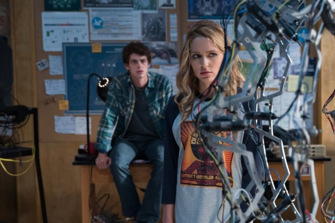 """(from left) Carter (Israel Broussard) and Tree (Jessica Rothe) in """"Happy Death Day 2U,"""" written and directed by Christopher Landon."""