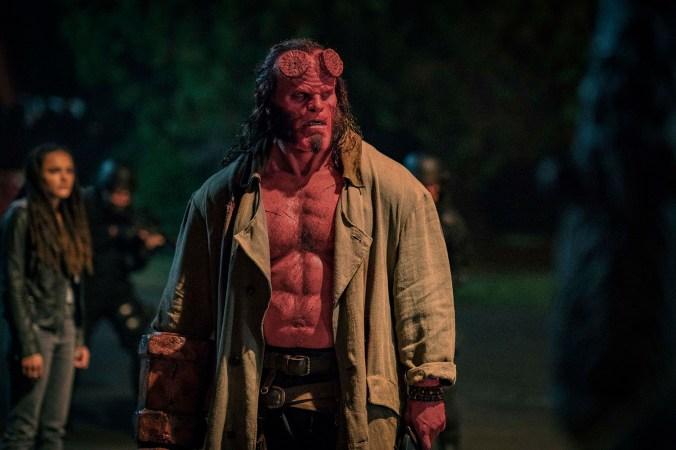 David Harbour stars as 'Hellboy' in HELLBOY. Photo Credit: Mark Rogers.