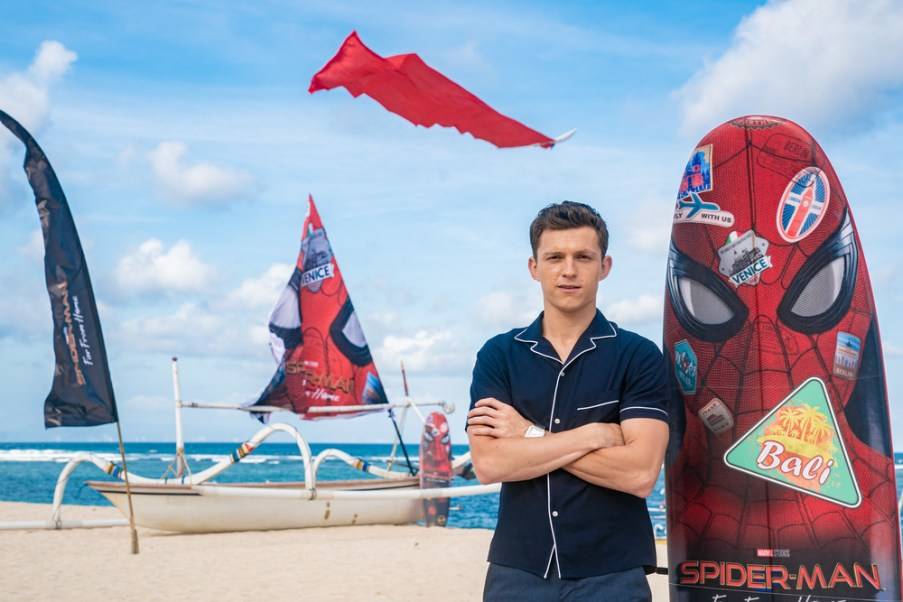 DENPASAR, BALI, INDONESIA - MAY 28: Tom Holland at the Spider-Man: Far From Home Pan-Asian Media Summit Bali event on May 28, 2019 in Denpasar, Bali, Indonesia. (Photo by Anthony Kwan/Getty Images for Sony Pictures Entertainment )