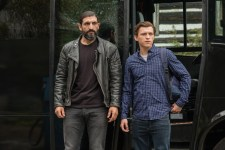 Numan Acar and Tom Holland in Columbia Pictures' SPIDER-MAN: ™ FAR FROM HOME.