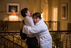 Tom Holland and Jacob Batalon in Columbia Pictures' SPIDER-MAN: ™ FAR FROM HOME.