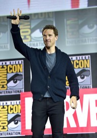 SAN DIEGO, CALIFORNIA - JULY 20: Benedict Cumberbatch of Marvel Studios' 'Doctor Strange in the Multiverse of Madness' at the San Diego Comic-Con International 2019 Marvel Studios Panel in Hall H on July 20, 2019 in San Diego, California. (Photo by Alberto E. Rodriguez/Getty Images for Disney)