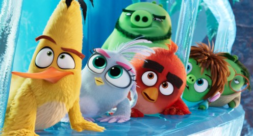 Chuck (Josh Gad), Silver (Rachel Bloom), Red (Jason Sudeikis), Leonard (Bill Hader), Courtney (Awkwafina) and Garry (Sterling K. Brown) in Columbia Pictures and Rovio Animations' ANGRY BIRDS 2.