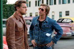 Leonardo DiCaprio and Brad Pitt star in ONCE UPON TIME IN HOLLYWOOD.