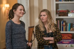 Wichita (Emma Stone) and Little Rock (Abigail Breslin) in Columbia Pictures' ZOMBIELAND: DOUBLE TAP.