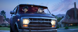 """OH BROTHERS – In Disney and Pixar's """"Onward,"""" two teenage elf brothers embark on an extraordinary quest in a van named Guinevere to discover if there is still a little magic left in the world. Featuring Tom Holland as the voice of Ian Lightfoot, and Chris Pratt as the voice of Ian's older brother, Barley, """"Onward"""" opens in U.S. theaters on March 6, 2020. ©2019 Disney/Pixar. All Rights Reserved."""
