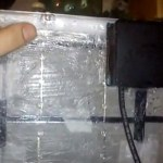 Идея фиксации коробки с диодами к самодельной Солнечной Батареи.