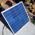 Тест солнечной батареи 50 Ватт polykristall