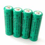 Тест AA 2A 900mAh 1.2V NiCd Ni-Cd Solar Rechargeable Battery KR6 Green