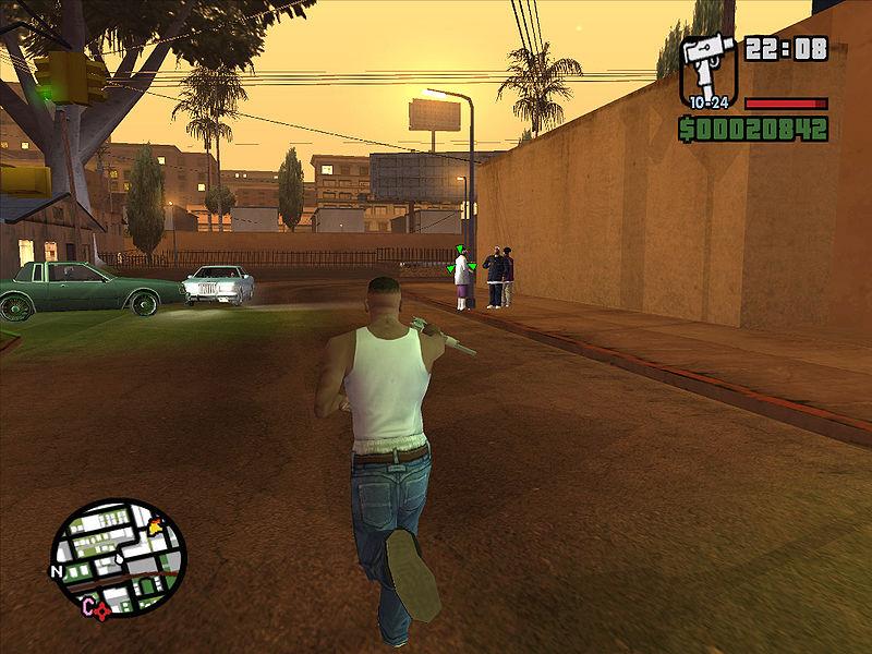 GTA-sarja on popularisoinut ajattelua pelimaailmasta hiekkalaatikkona. Kuve Wikipediasta.