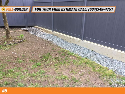 Concrete Foundation and Fence