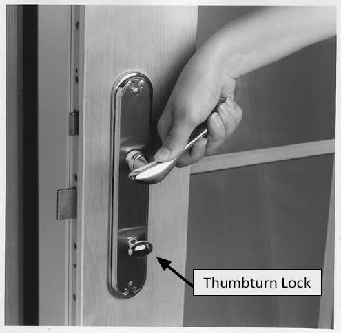 locking and unlocking entry doors
