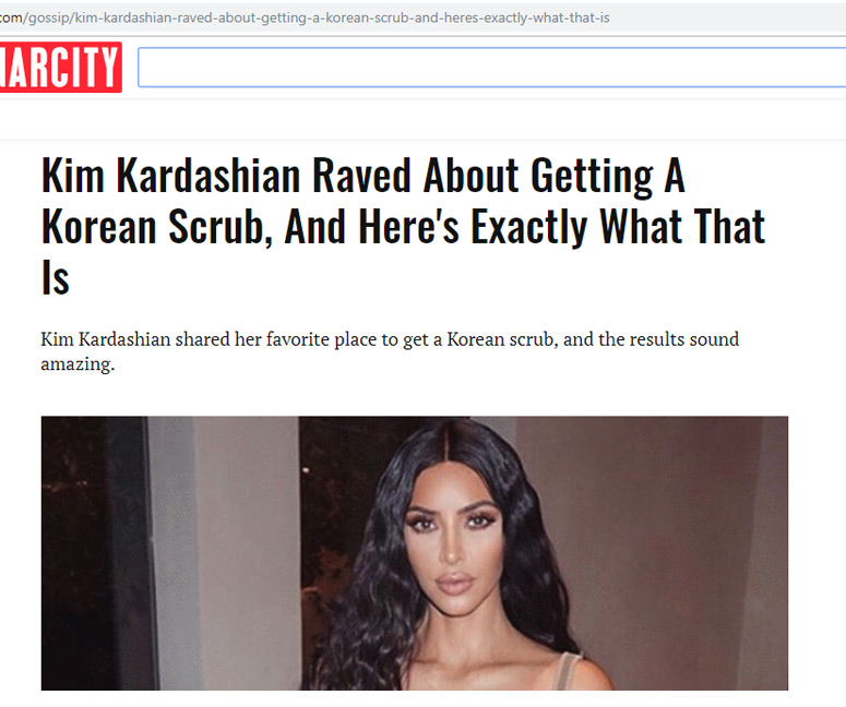 Kim Kardashian Raved About Getting A Korean Scrub, And Here's Exactly What That Is