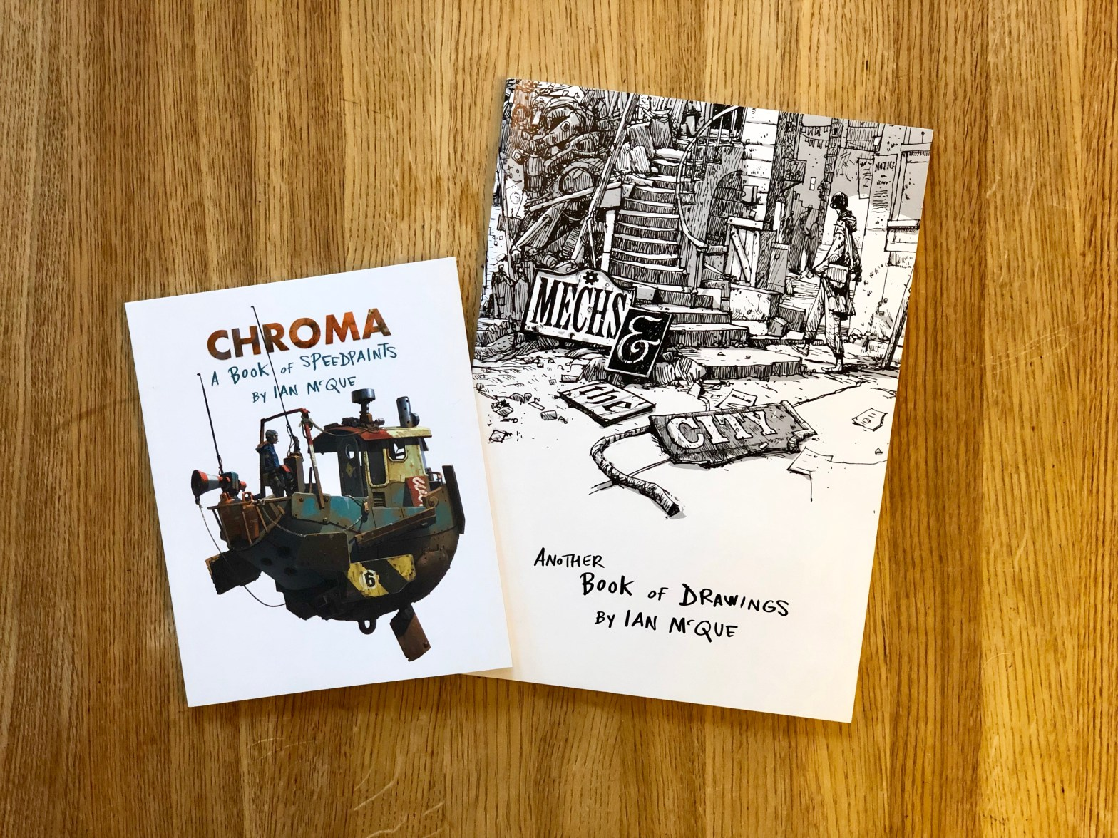 Ian McQues skissböcker Chroma och Another book of drawings.