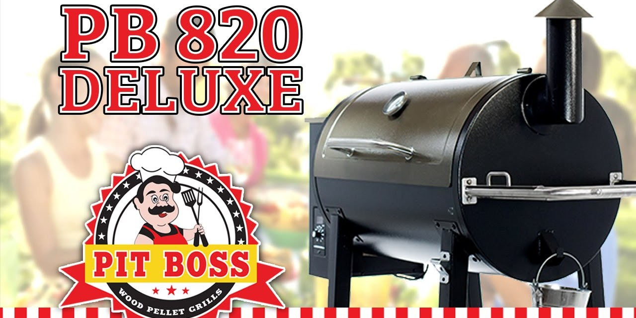 Pit Boss 820 Deluxe Wood Pellet BBQ   Pellet Grills BBQ