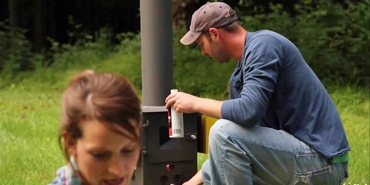 Wood Pellet Patio Heater   Outdoor Patio Heater by Wood ...