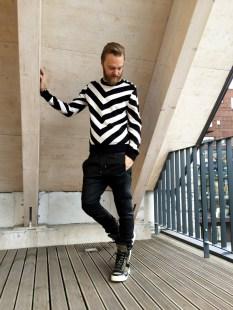 Balmain x H&M stripes look (pellissimo.ee) #balmaination