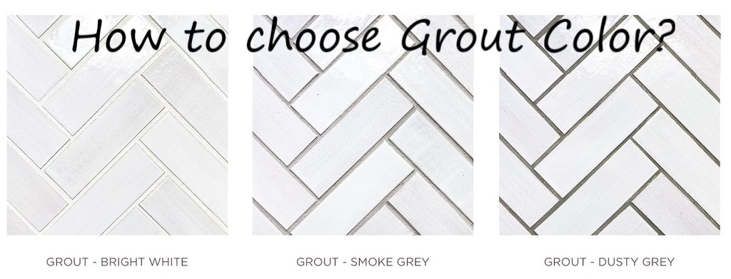 grout choice can change the tile design