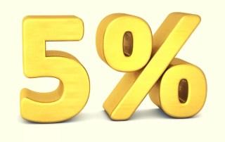 valor taxa passagens 5%