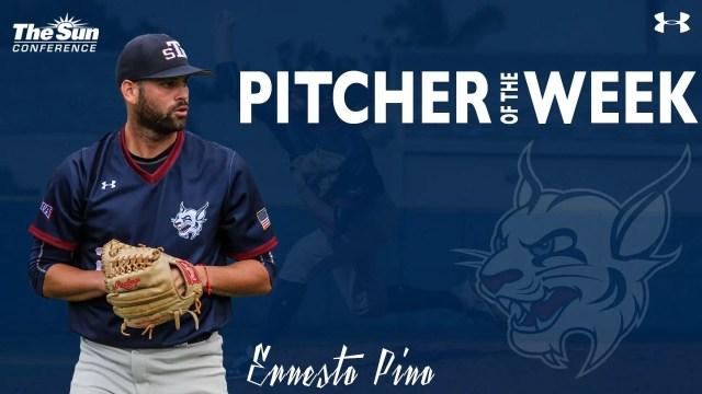 Ernesto Pino lanzador de la Semana en el béisbol colegial