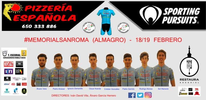 Alineación Memorial Sanroma 2017 Pizzería Española Sporting Pursuits