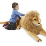 León de peluche gigante